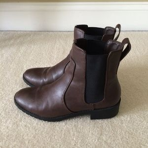 Brown Leather Boots (Faux Leather)